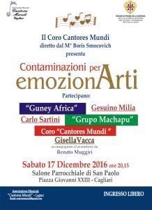 L'Associazione Musicale Cantores Mundi propone una serata musicale con prosa,musica e canti sud americani e tradizionali africani....Vi Aspettiamo!!!!!!!!!!!!!